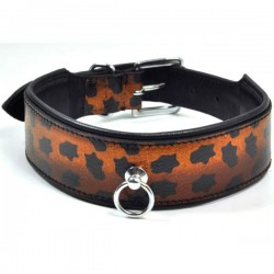 COLLAR BDSM LEOPARDO