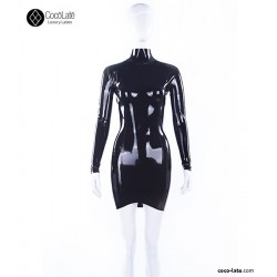 MINI VESTIDO LATEX EN T
