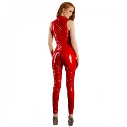 VINYL JUMPSUIT RED